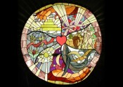 """CREATION"" Stained Glass Panel design"